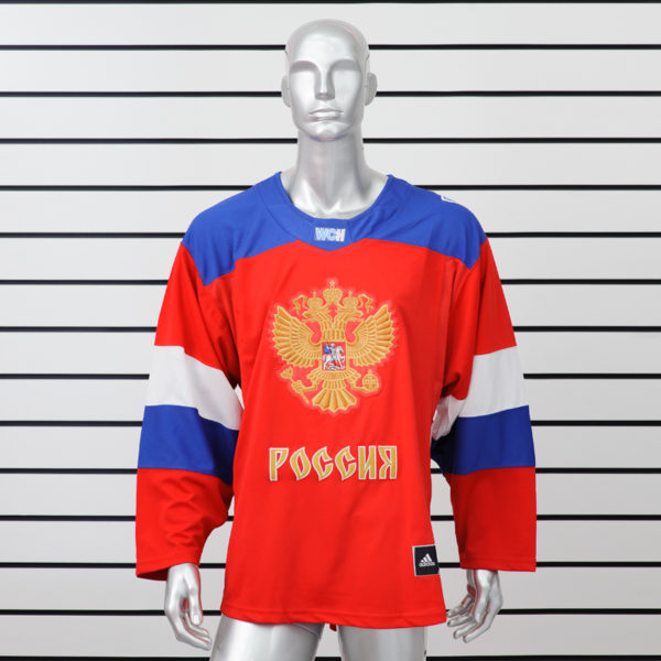 Купить хоккейный свитер сборной России красный