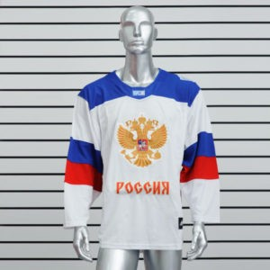 Купить хоккейный свитер сборной России белый