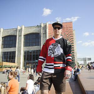 Купить хоккейный свитер Chicago Blackhawks тренировочный