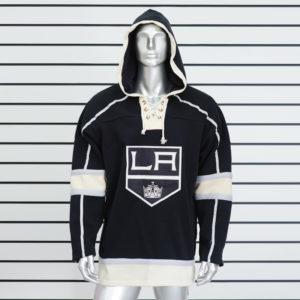 Купить черную толстовку худи Los Angeles Kings
